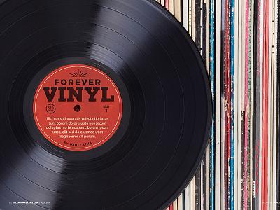 Forever Vinyl layout vintage album record vinyl spread opening opener magazine orlando