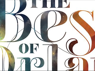 Best Of Orlando swash mask nebula space font typographic typography best