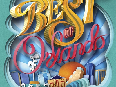 Best of Orlando 2016 orlando magazine cover illustration layered collage cut paper paper best of orlando