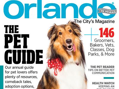 Orlando Magazine September 2016 Pet Cover typography sheltie orlando magazine cover magazine dog pet