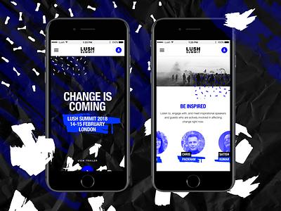 Lush | Summit Hub Mobile blue change speakers cosmetics event summit lush