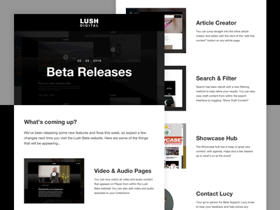 Lush | Beta Releases Email release beta template email cosmetics lush
