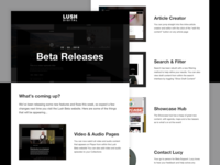 Lush | Beta Releases Email