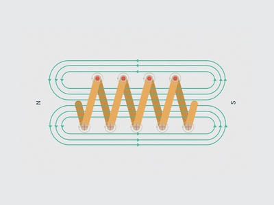 Another Physics illustration magnet flat electromagnetic color palette illustration physics