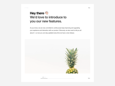 Feature Release usability dialog pineapple emoji uxui product ux ui new feature feature release feature