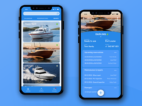 Boat Reservation App iphone iphone 10 bluish blue boat reservations reservation mobiledesign design app ui mobile app mobile