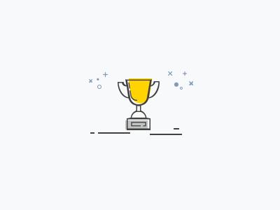 Award linear monocolor award icon winner