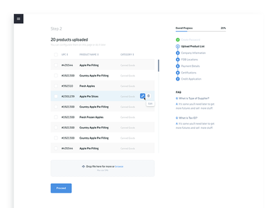 Sign Up product list steps forms ui web sign up