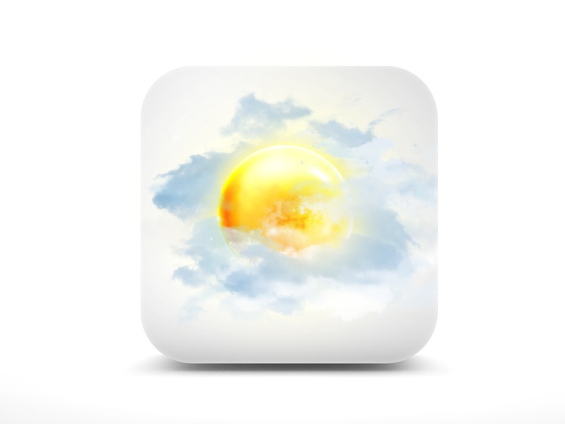 Weather Ios Icon waether sun clouds icon ios clean