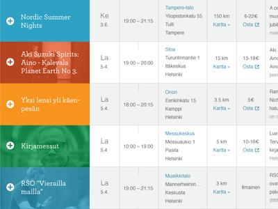 Cultural Events Calendar II