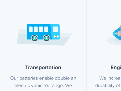 Illustrations for battery use