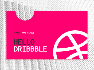 Hello Dribbble shot hello first dribbble debut
