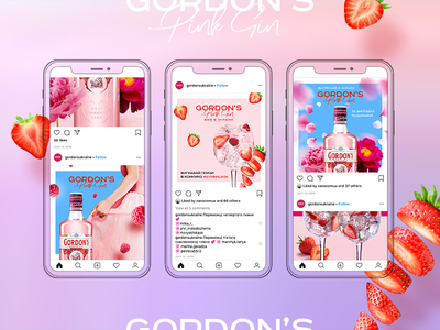 Pink Gin Promo social network pink alcohol instagram instagram post promotion promo