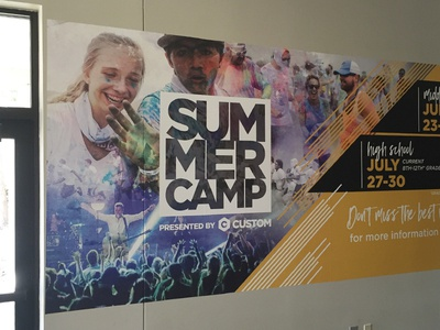 Custom Summer Camp Wall Install