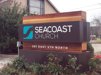 Seacoast Rebrand - Summerville Campus Road Sign