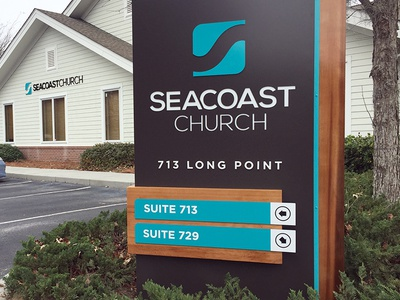 Seacoast Rebrand - Mt. Pleasant Campus Office Signage