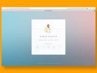 Card Styled Landing Page