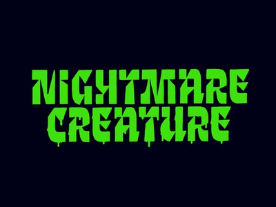 Nightmare Creature typeface font handlettering type customtype calligraphy typography logotype logo typemate lettering