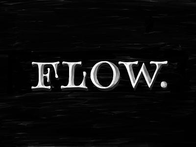 Flow handwritten handlettering type customtype logo calligraphy typography logotype typemate lettering