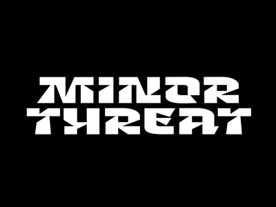 Minor Threat new font typeface typeface design font type customtype typography logotype logo typemate lettering