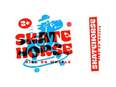 Skatehorse kids horse skate handlettering type customtype typography logotype typemate logo lettering
