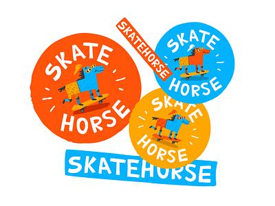 Skatehorse kids horse skate handlettering branding illustration typemate logotype logo