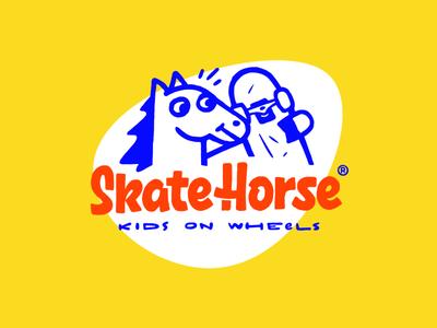 Skatehorse branding illustration customtype lettering logotype logo typemate