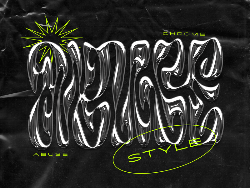 Chrome abuse chrome chrome type branding design handlettering type customtype typography logo typemate lettering