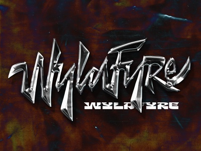 WyldFyre metalic coverart chrome chrometype type customtype typography logotype logo typemate lettering