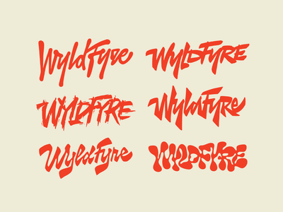WyldFyre sketches type handwritten handlettering customtype calligraphy typography logotype logo typemate lettering
