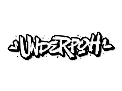 Underpoh logo hiphop rap graffitti handwritten handlettering type customtype typography logotype logo typemate lettering