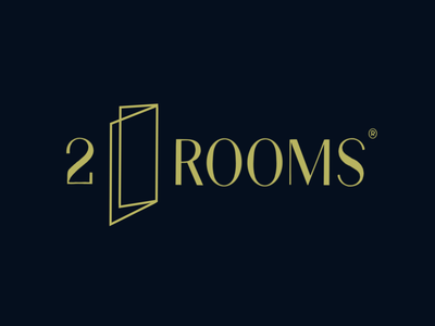 2 ROOMS typeface handlettering type customtype calligraphy typography logotype logo typemate lettering
