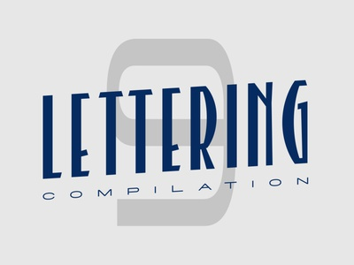 Lettering compilation 9 typeface type handlettering customtype calligraphy typography logotype logo typemate lettering