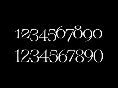 Numbers numbers typeface typeface design font handlettering type customtype calligraphy typography logo typemate lettering