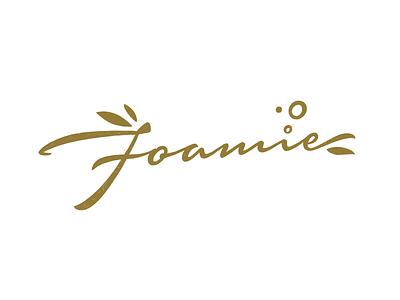 Foamie logo sketch handwritten handlettering type customtype calligraphy typography logotype logo typemate lettering