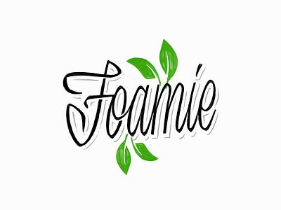 Foamie 3 type handwritten script hand lettering customtype calligraphy typography logotype logo typemate lettering