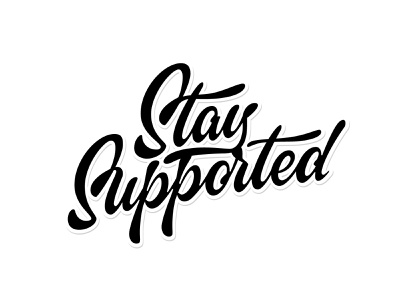 StaySupported script handlettering type customtype calligraphy typography logotype logo typemate lettering