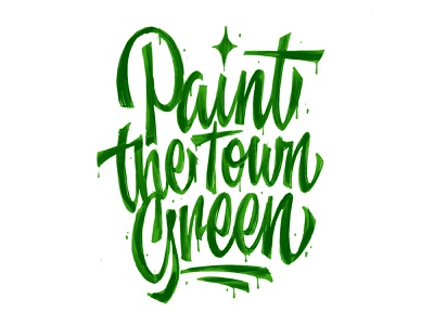Paint the Town customtype calligraphy logotype typography logo typemate lettering
