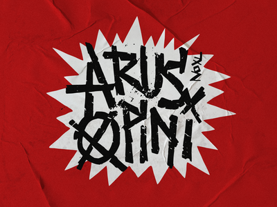 Arus Opini punk punkrock customtype logotype typography logo typemate lettering