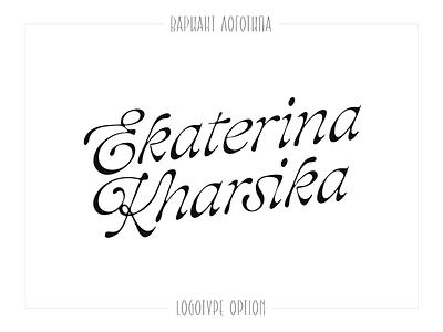 Kharsika typeface font customtype calligraphy logotype typography logo typemate lettering