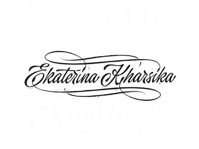 Kharsika raw sketch customtype calligraphy logotype typography logo typemate lettering