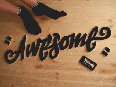 Awesome styrofoam =) handwritten awesome design typemate typography type lettering logo logotype