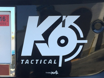 K6 Tactical inc. Logo vovaegoshin typemate lettering identity typography weapon crosshair firearms tactical k6 logotype logo