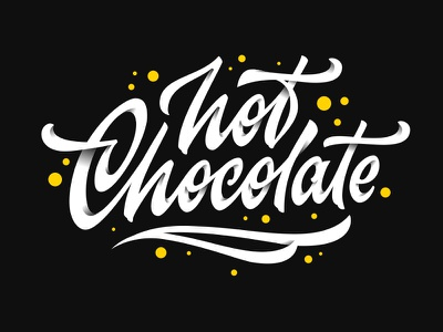 Hot Chocolate vector logo chocolate hot typography calligraphy lettering typemate