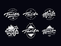 Тайга - Barbershop logo sketches