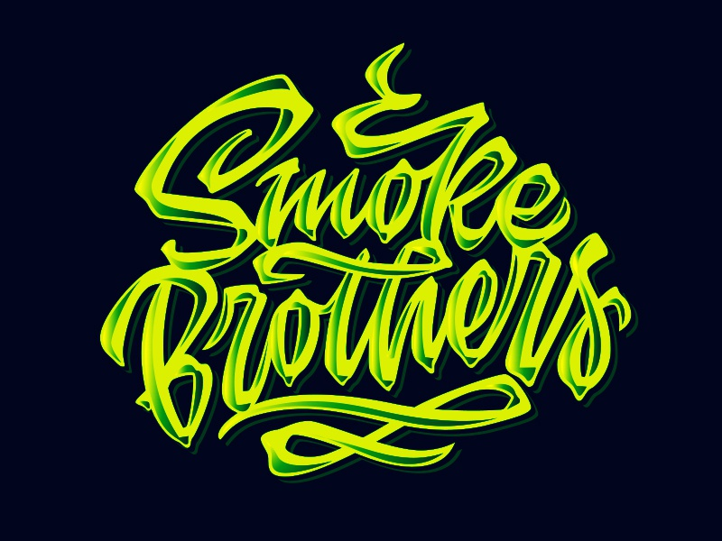 Smoke Brothers weed handwritten vector identity hand lettering script handlettering customtype type typography calligraphy logotype logo typemate lettering