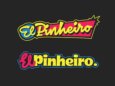 ElPinheiro lettering logo sketches