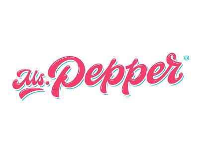 Ms. Pepper logo pepper beauty casual script hand lettering handwritten handlettering type customtype calligraphy typography logotype logo typemate lettering