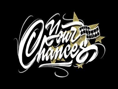Chances ipad lettering brushes procreate casual script hand lettering sketch handwritten handlettering type customtype typography calligraphy logotype logo typemate lettering