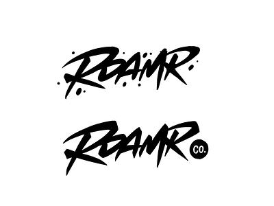 Roamr type custom type logotype typography calligraphy logo lettering